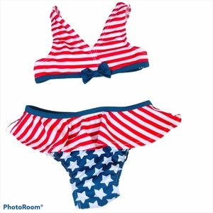 Baby Girl Fourth Of July Two-Piece Swimsuit
